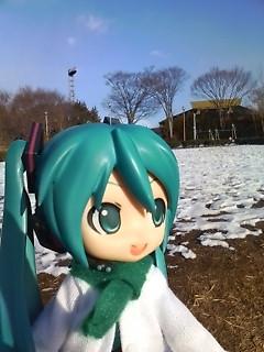 初雪景色。