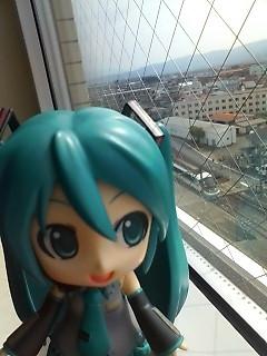 宿の窓から。