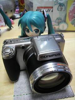 ミクさんはカメラマン。