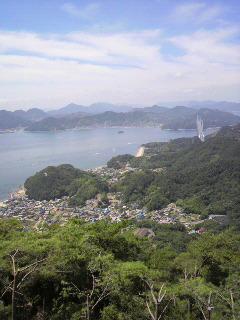 尾道と瀬戸内海。