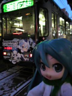 2012雪ミクさん電車。