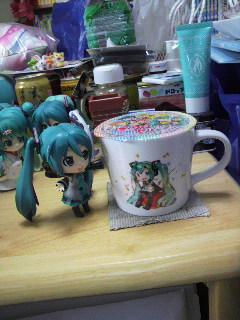 ミクさんマグカップ。