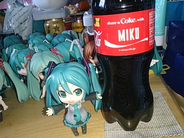 ミクさんボトル。