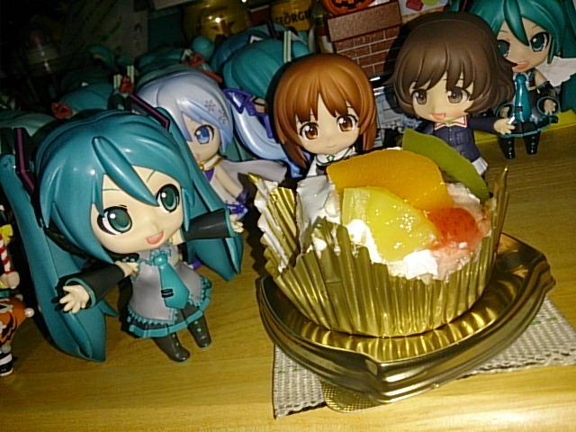 ケーキを。