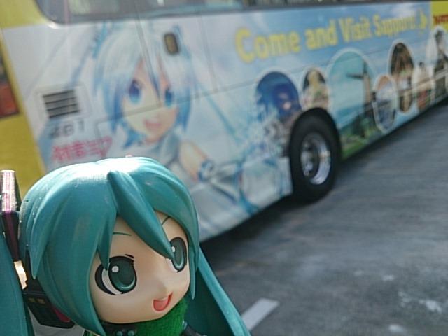 雪ミクさんはとバス。