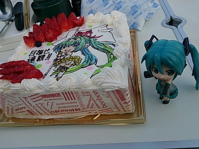 富士はケーキでモーニング。