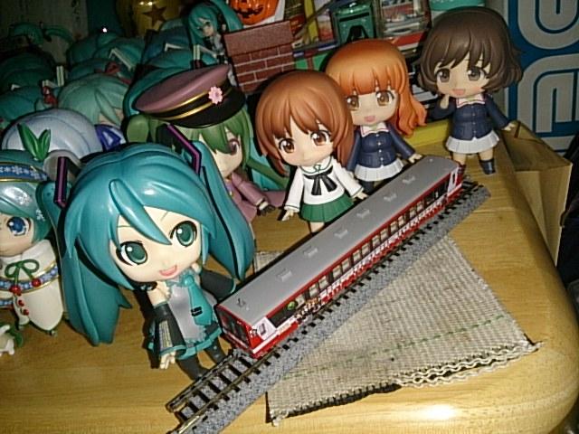 ガルパン列車模型です。
