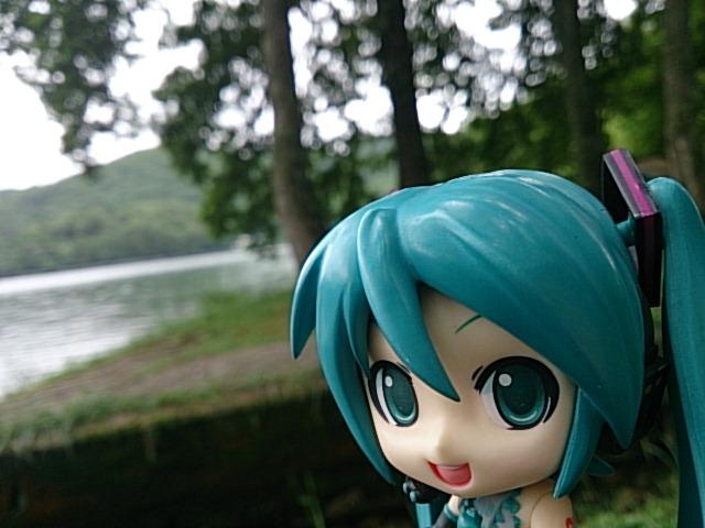 木崎湖をキャンプ地とします。