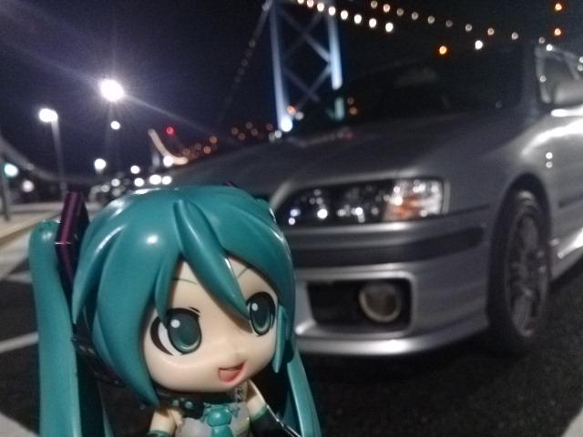 夜の関門橋。