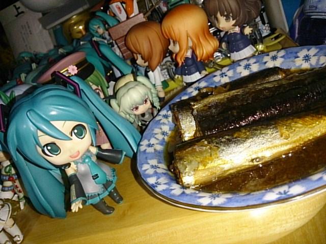 秋刀魚とネギも。