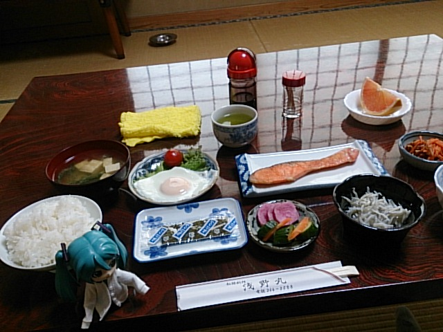 浅野丸さんの朝ごはん。