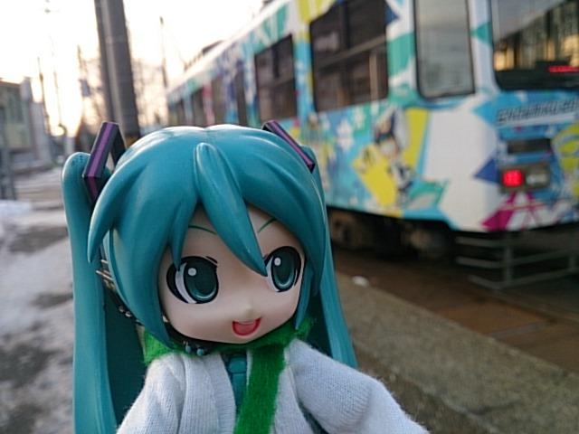 ミクさんの日の雪ミクさん電車。