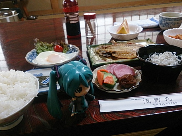 浅野丸さんは朝ごはんも楽しみで。