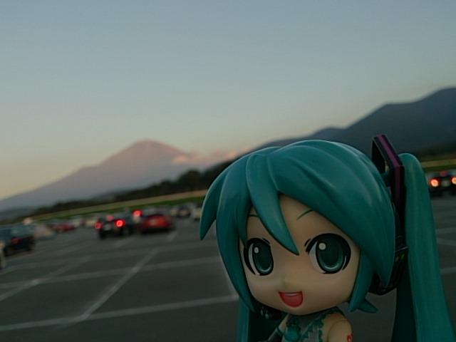 着いて赤富士。