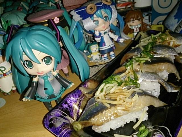 秋刀魚握り。