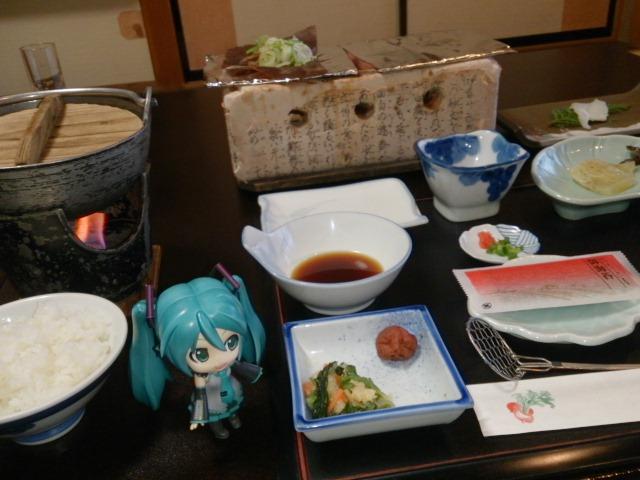 松乃井さんで朝ごはん。