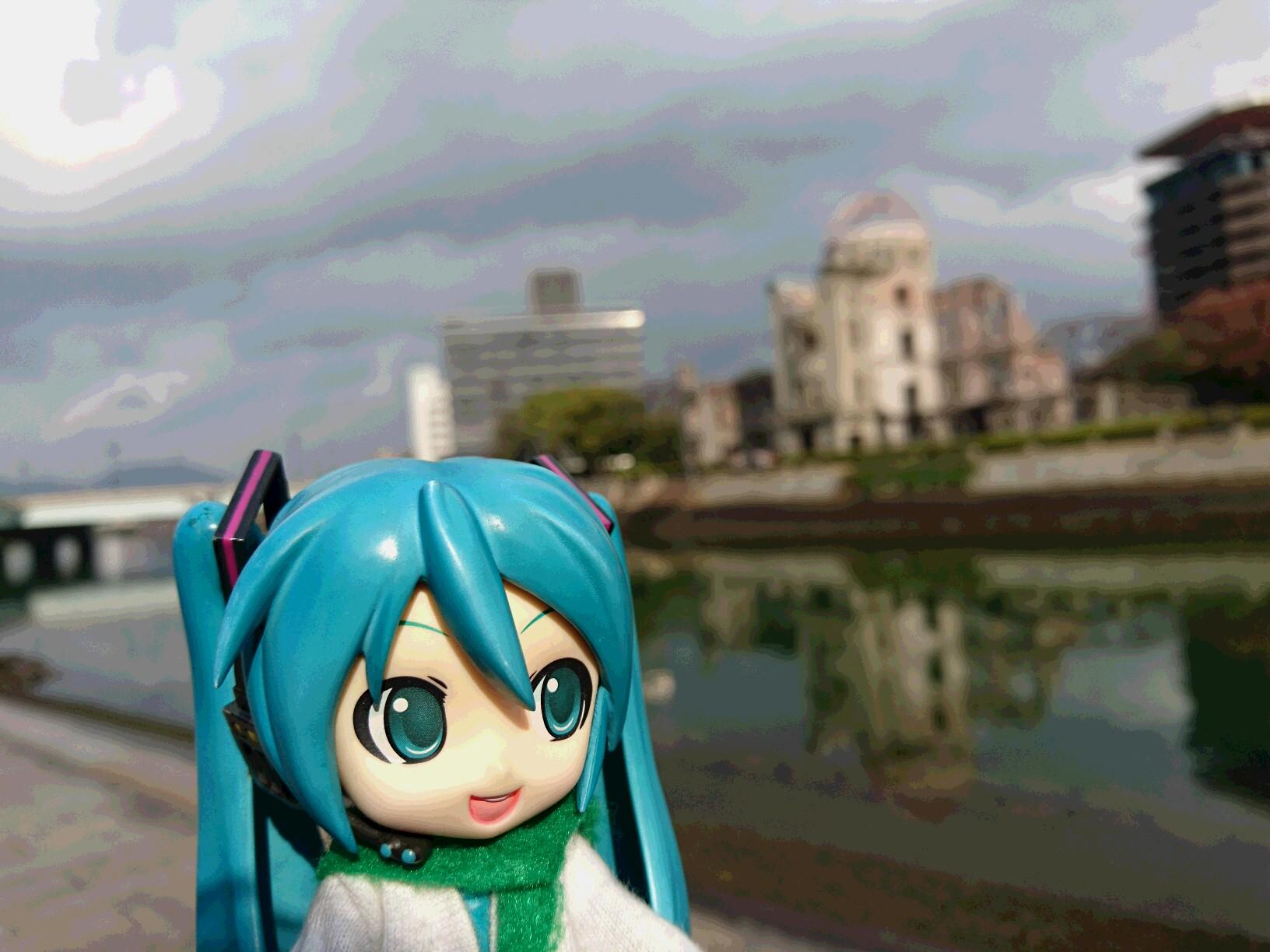 ミクさんと広島。
