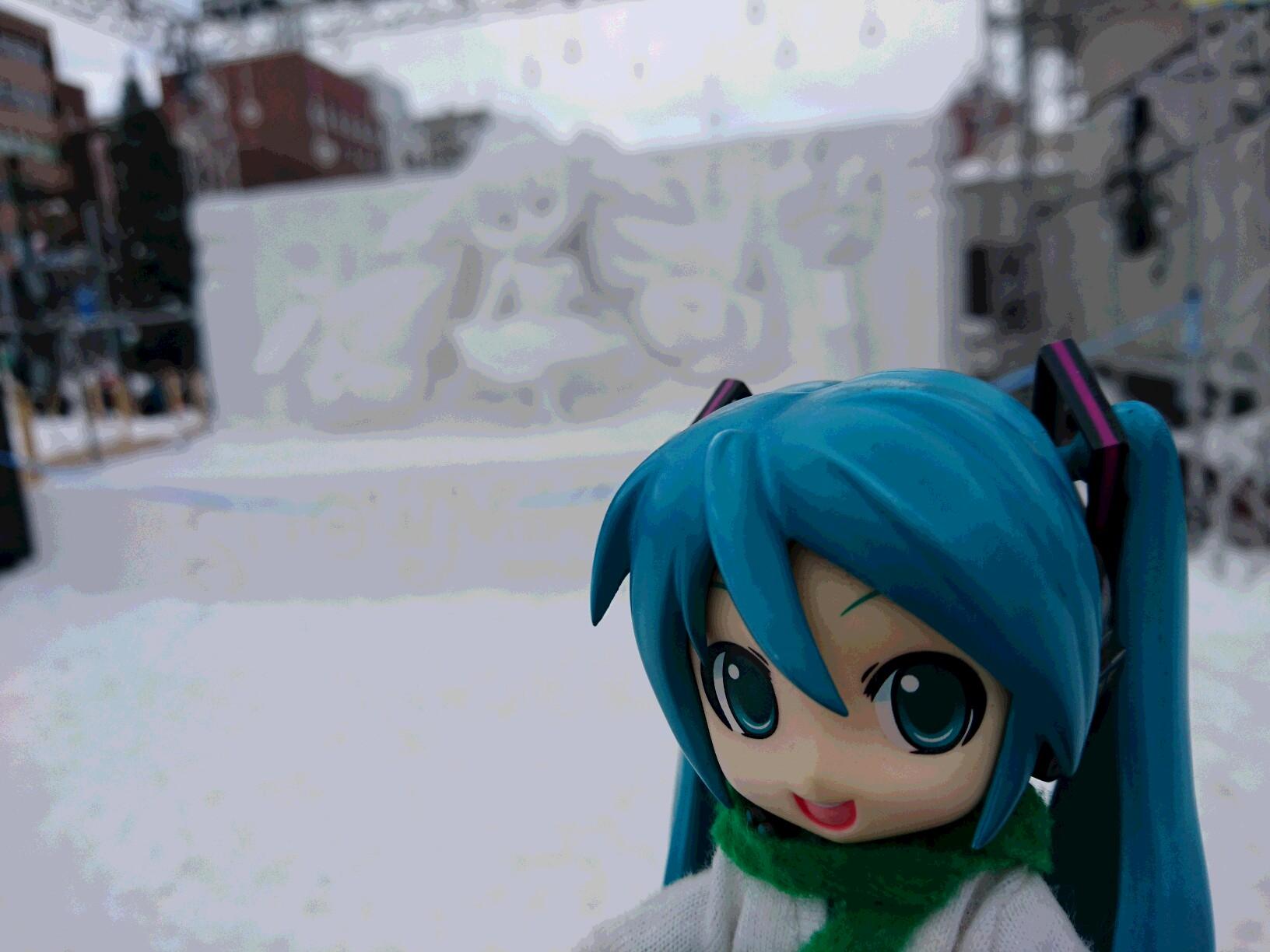 朝の謁見雪のお姫さま。