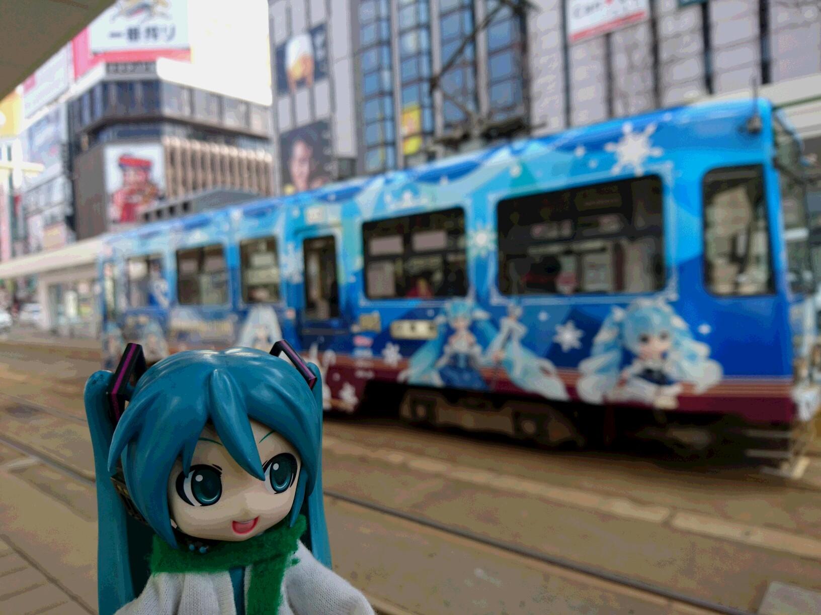 雪のお姫さま電車。