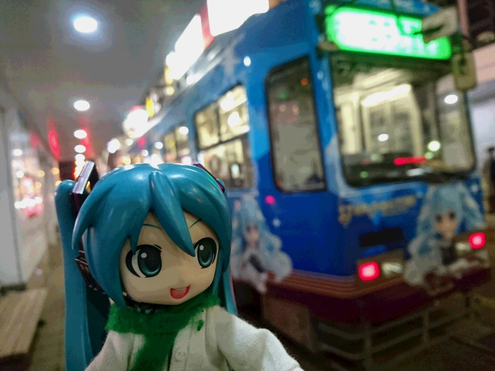夜雪のお姫さま電車。